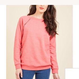 Coral ModCloth sweatshirt in 3x